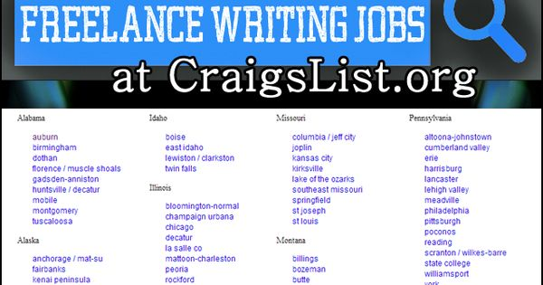 craigslist writing jobs Hunting for new work, marketing yourself and following up on leads is as  important as writing itself, if you want to keep a steady flow of work.