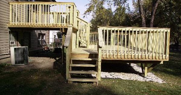 Deck Designs For Split Level Homes Home Review Co
