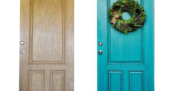 Love this door color!