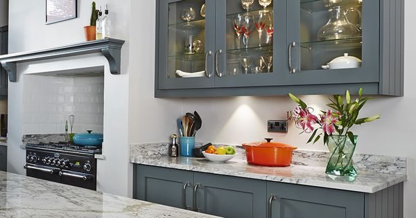 Best Kitchen Cabinets Painted In Farrow Ball Downpipe Island 400 x 300