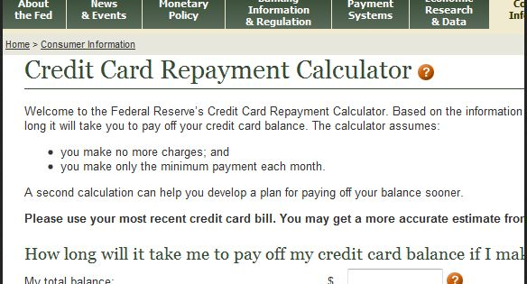 Personal Loans 600 Credit Score >> Credit Card Repayment Calculator. Minimum payments on your ...
