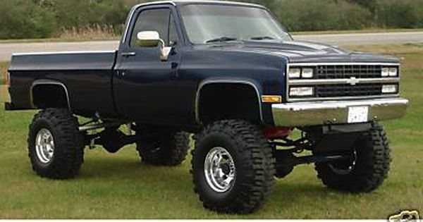 Jacked Up Silverado >> 1986 chevy jacked up...oh yea!   Chevy Truck Gal   Pinterest   Chevy silverado, Cars and 4x4