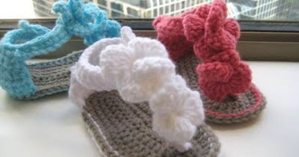 Free Crochet Baby Shoes Patterns | Orchid Sandals Crochet Baby Booties Pattern