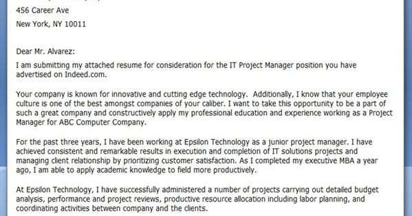it project manager cover letter doc creative resume design templates