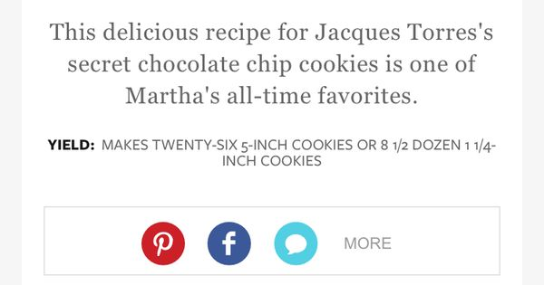 ... 314346/jacques-torress-secret-chocolate-chip-co | cookies | Pinterest