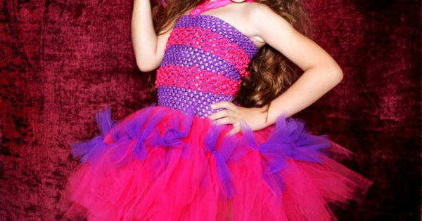 Cheshire cat inspired tutu outfit from by SofiasCoutureDesigns, $59.00