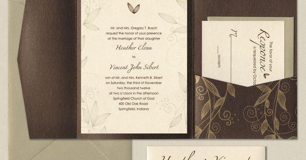Fall Wedding Invitation Set Sample