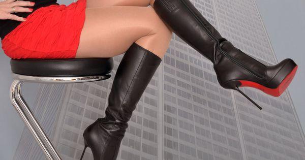 nappaleder stiefel mit plateau absatz von fuss schuhe high heels pinterest high heel and. Black Bedroom Furniture Sets. Home Design Ideas