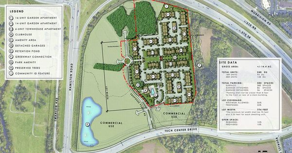 Revised Plan For Gahanna S Crescent At Central Park Would Bring 240 Apartments In 2021 City Planner Central Park Retention Pond