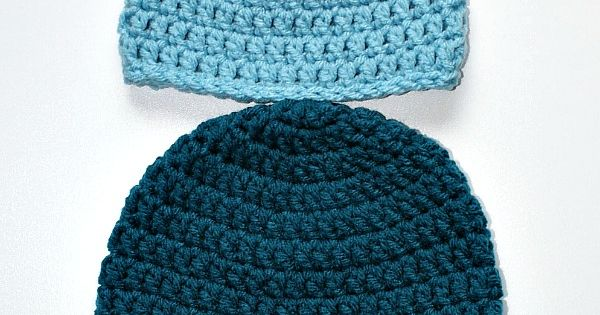 Simple Double Crochet Hat - Free Crochet Pattern - Sizes Preemie to Adult Large | See more about Double Crochet, Crochet Hats and Crochet.