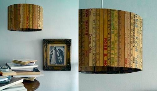 Vintage Schoolhouse Ruler Lamp Shade A Perfect Nod To Childhood