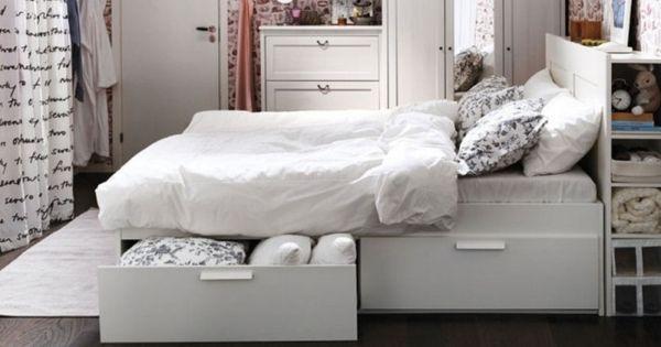 Cabeceros de cama con espacio de almacenaje cuarto - Camas con almacenaje ikea ...
