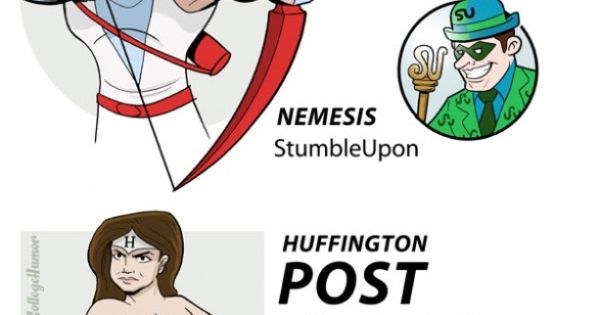 Website superheroes and nemeses