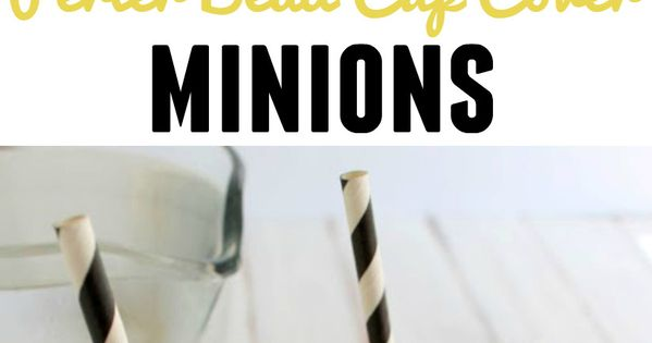 These DIY minion cup covers are perfect for keeping bugs out of