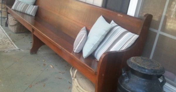 Foyer Bench For Sale : Antique church pew is a benches stools for sale in