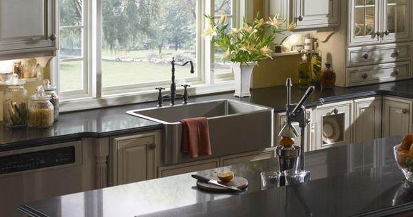 overmount apron sink House: Bathroom Style Pinterest Apron sink ...