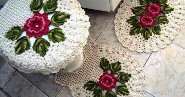 Jogo De Banheiro Juego De Ba 241 O De Crochet Crochet