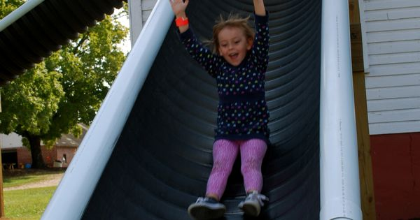 Cheap Slide Idea Diy Pinterest Playground Backyard