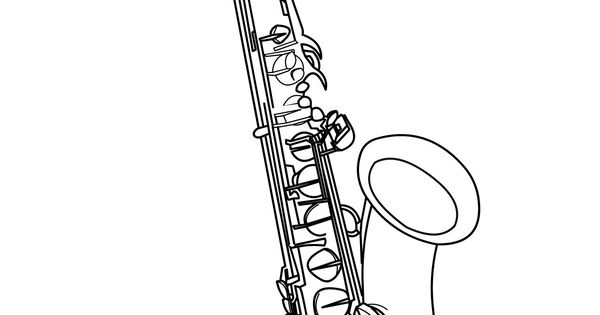 tenor saxophone drawings -