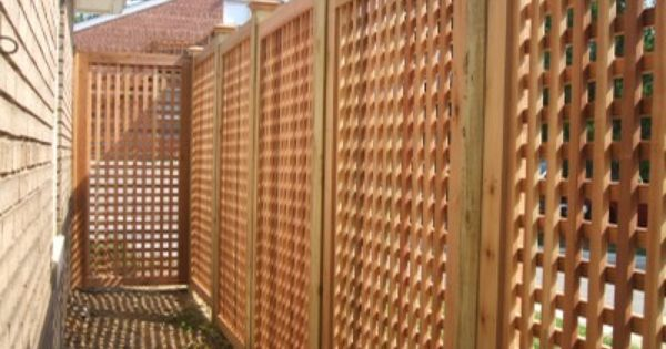 Eastern White Cedar Wood Lattice Wood Fence boards, it is the highlight of  any fence installation. Description from ifencess.com. I searched for th… - Eastern White Cedar Wood Lattice Wood Fence Boards, It Is The