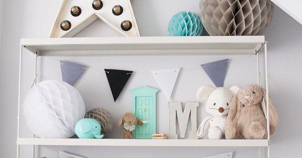 scandinavian nursery inspiration grey mint / habitación bebé infantil gris / Macarena
