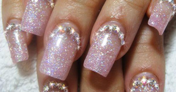 pink glitter bling
