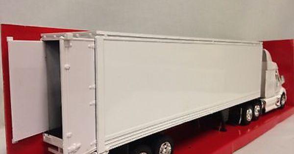 Peterbilt 387 W Dry Van Trailer Collectibles 1 32 Diecast New Ray Toy White Peterbilt Trailers For Sale Peterbilt 387