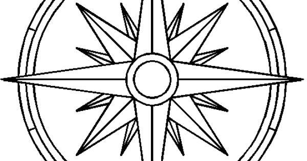 outline clean legend compass