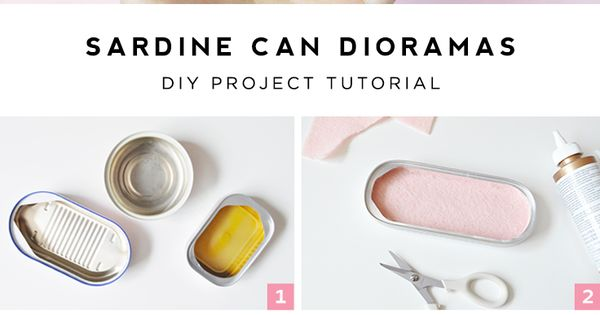 Mini sardine can dioramas things to tutorials and i love Empty sardine cans