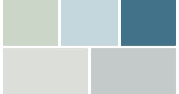 Sherwin Williams Color Palette Sea Salt Balmy Downpour