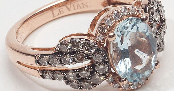 A wedding ring with my birthstone. Beautiful. rose gold, aquamarine, & diamond