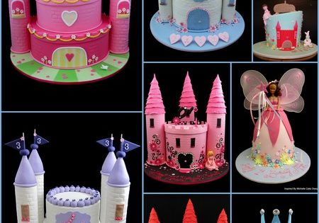 Castle birthday cakes, i may someday need a castle cake for a