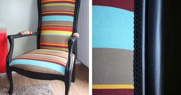 diy recouvrir un vieux fauteuil voltaire recouvrir. Black Bedroom Furniture Sets. Home Design Ideas