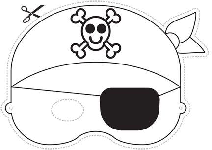 Careta De Pirata Antifaces Para Ninos Piratas Infantiles