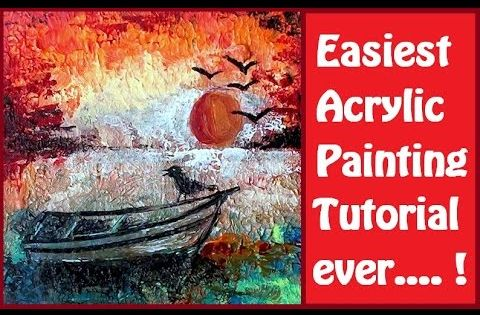 Easiest acrylic painting step by step tutorial painting for Step by step acrylic painting tutorial