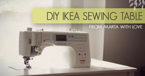 diy ikea sewing table tutorial from marta with love. Black Bedroom Furniture Sets. Home Design Ideas