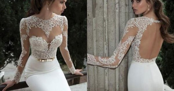 Cheap Wedding Dresses Websites: Weddbook ♥ Lace Long Sleeves High Neck Cheap Sheath