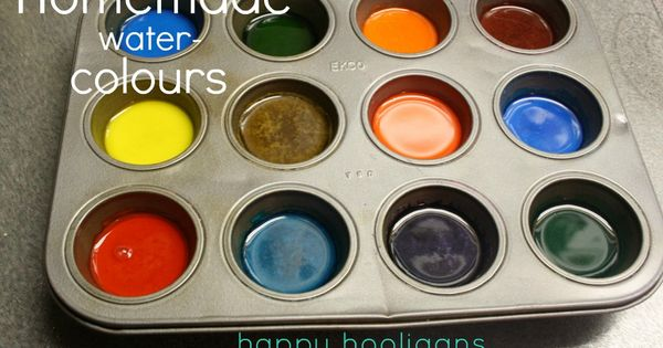 homemade watercolour paints // happy hooligans homemade watercolors