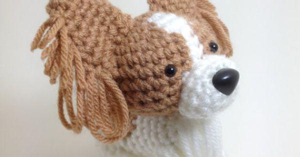 Amigurumi Boxer Dog : Papillon Stuffed animal Amigurumi Dog Crochet Puppy Plush ...