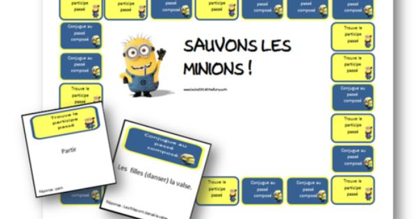 Jeu Sur Le Passe Compose Sauvons Les Minions Classroom Games Junior High Classroom School Inspiration