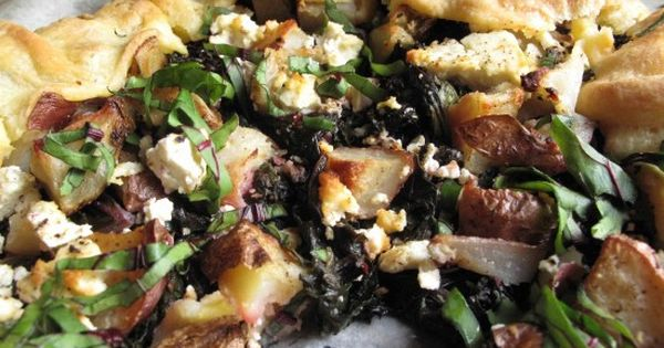 Savory galette--beet greens/kale, and cumin-spiced mushroom | foodie ...