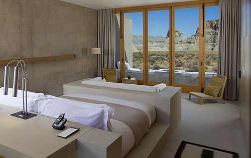 Sophisticated Suite room with a view of desert: Amangiri Resort and Spa