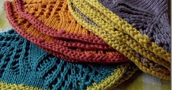 Knitting Granny Dishcloth : Grandma s fan dishcloths at cozy things wonderful