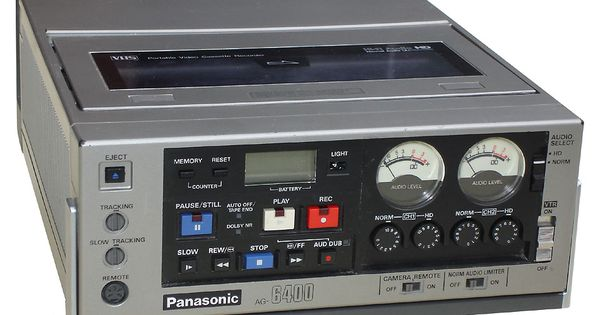 panasonic ag 6400 pro vhs recorder film pinterest. Black Bedroom Furniture Sets. Home Design Ideas