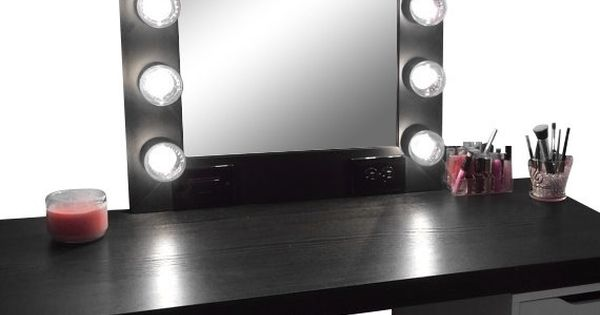 Bathroom Light Barth Electrical Outlet Vanity Power: Hollywood Vanity Makeup Mirror With Lights- Built In