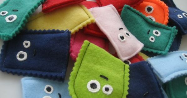 Monster felt finger puppets - let kids make their own monster. Adults