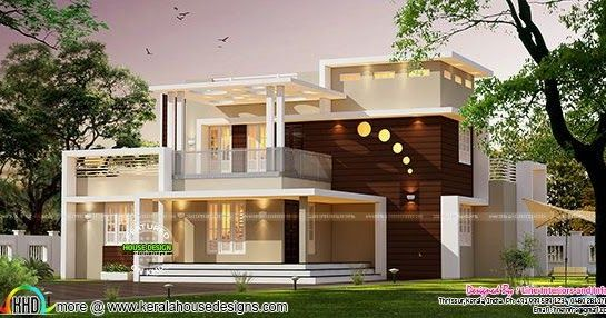 Contemporary Style Home Architecture 3000 Sq Ft In 2020 Kerala House Design Contemporary House Plans Bungalow House Design