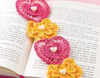 Hearts & Flowers Bookmark Crochet Pattern Download from e ...