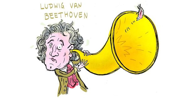 Ludwig Van Beethoven Musikgenie Mit Horrohr Und Dickschadel Br De Ode An Die Freude Musik Schule Musik