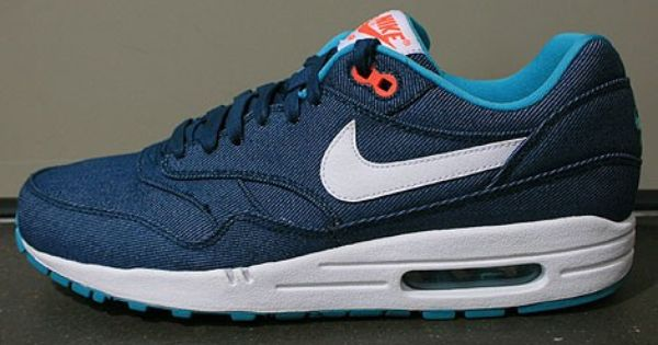 Buy Cheap Nike Air Max 1 Premium Mens Trainers Dark Blue White Turquoise Red Pro Shop Uk Online Nike Air Max Nike Turquoise Men